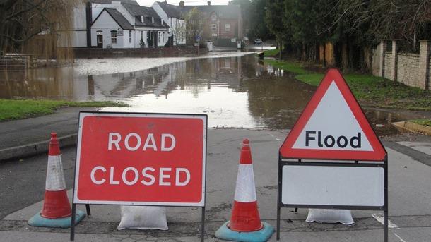 road closed flood